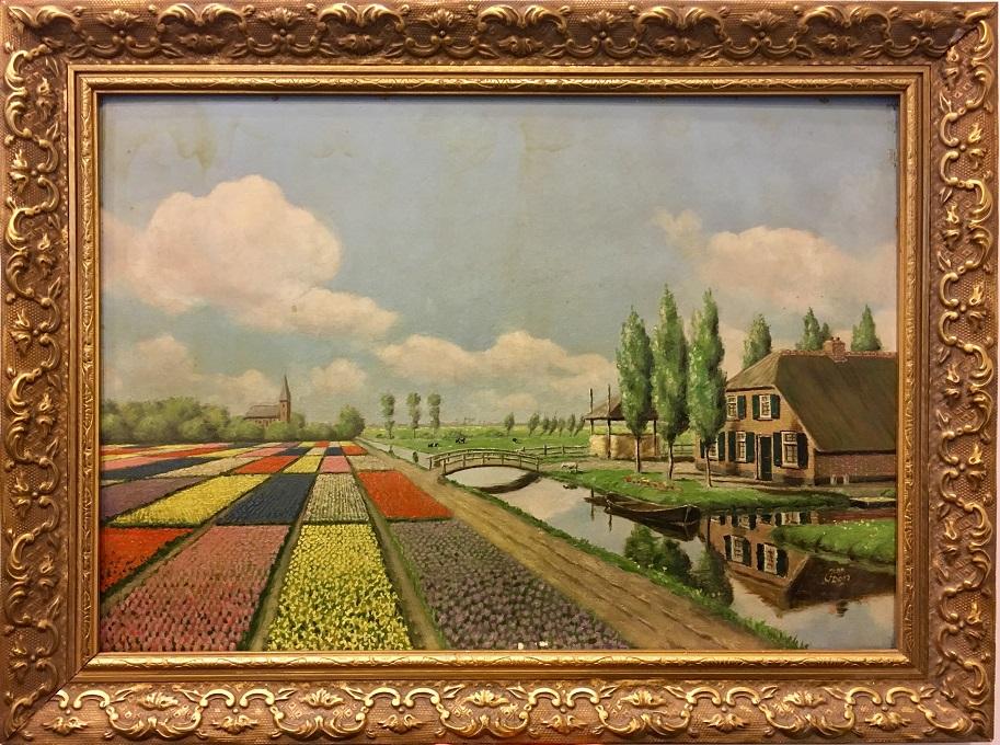 Schilderij na 75 jaar terug bij kamp amersfoort kamp amersfoort - Schilderij ingang en gang ...